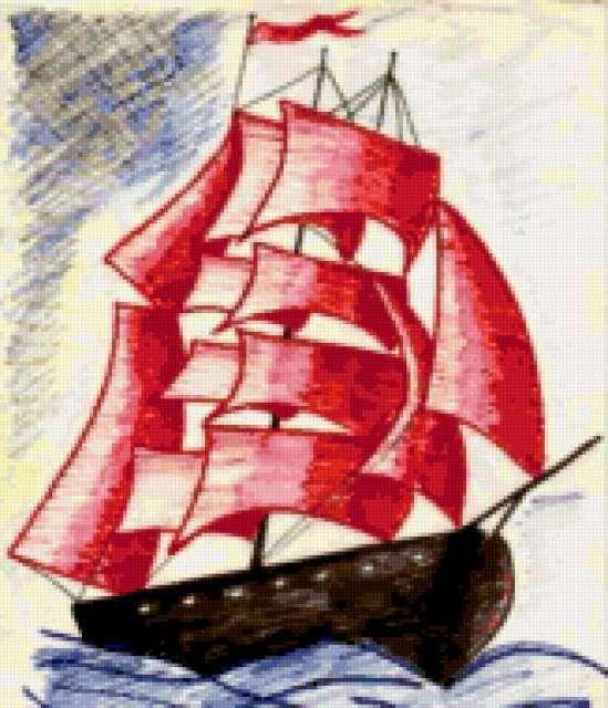 предоставляющих как нарисовать корабль с алыми парусами могут вступать реакции